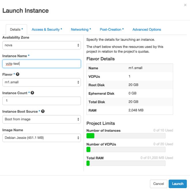 OpenStack - Create Instance 1